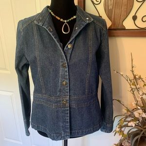 St John's Bay Fitted Button FrontDenim Jacket M